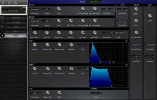 Click to display the Roland MKS-70 Tone B Editor
