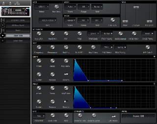 Click to display the Roland MKS-80 Upper Tone Editor