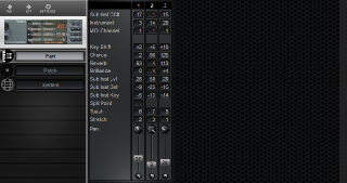 Click to display the Roland P-55 Part Editor