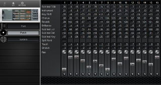 Click to display the Roland P-55 Patch Editor