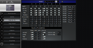 Click to display the Roland R-8 Feels (0 - 7) Editor