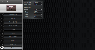 Click to display the Roland R-8 MkII System Editor