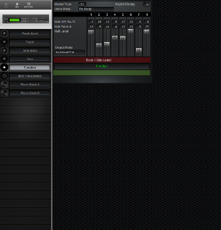 Click to display the Roland S-330 Function Editor