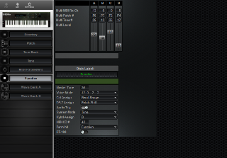 Click to display the Roland S-50 Function Editor