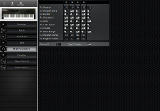 Click to display the Roland S-50 MIDI Parameters Editor