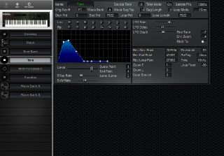 Click to display the Roland S-50 Tone Editor