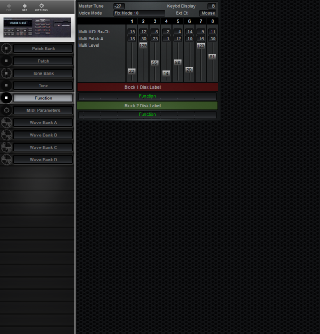 Click to display the Roland S-550 Function Editor