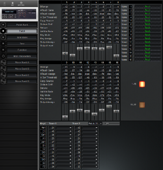 Click to display the Roland S-550 Patch Editor