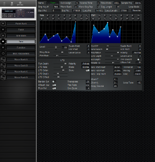 Click to display the Roland S-550 Tone Editor