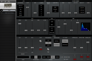 Click to display the Roland SH-01A Patch Editor