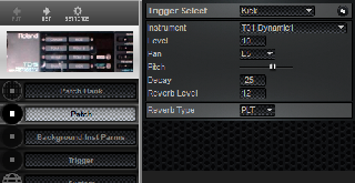 Click to display the Roland TD-5 Patch Editor