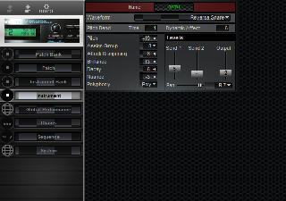 Click to display the Roland TD-7 Instrument Editor
