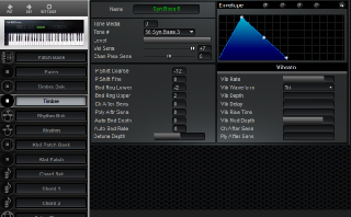Click to display the Roland U-20 Timbre Editor