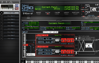 Click to display the Roland VC-1 Current Patch - Basic Mode Editor