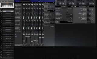 Click to display the Roland XP-50 Performance Editor