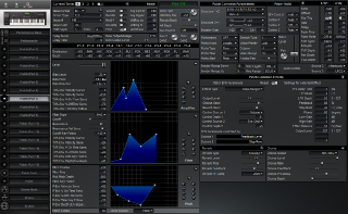 Click to display the Roland XP-60 Patch (Part 7) Editor