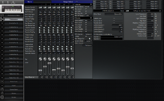 Click to display the Roland XP-60 Performance Editor