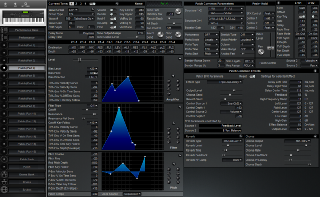 Click to display the Roland XP-80 Patch (Part 4) Editor