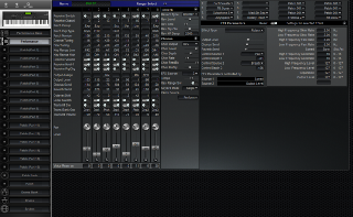 Click to display the Roland XP-80 Performance Editor