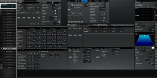 Click to display the Roland XV-3080 Pfm Patch 13 Editor