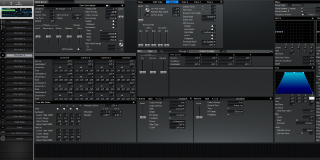 Click to display the Roland XV-3080 Pfm Patch 5 Editor
