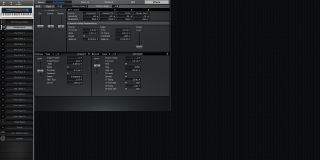 Click to display the Roland XV-88 Performance - Effects Mode Editor