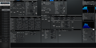 Click to display the Roland XV-88 Pfm Patch 1 Editor