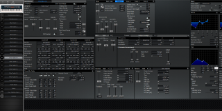 Click to display the Roland XV-88 Pfm Patch 10 Editor