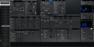 Click to display the Roland XV-88 Pfm Patch 11 Editor