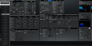 Click to display the Roland XV-88 Pfm Patch 4 Editor