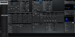 Click to display the Roland XV-88 Pfm Patch 7 Editor