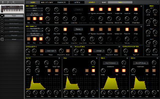 Click to display the Sequential Prophet XL Patch - Sound Editor