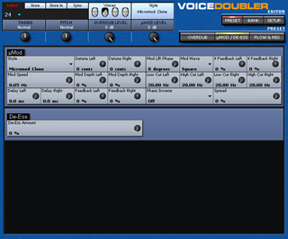 Click to display the TC-Helicon VoiceDoubler Preset - De-ess Editor