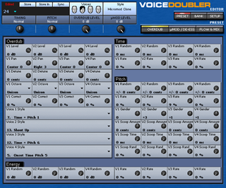 Click to display the TC-Helicon VoiceDoubler Preset - Overdub Editor