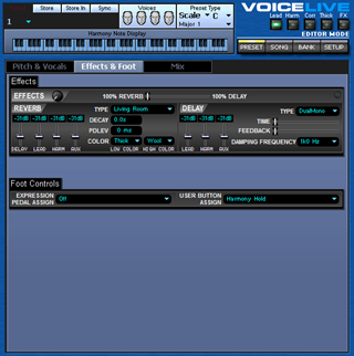 Click to display the TC-Helicon VoiceLive Preset - Effect + Foot Editor
