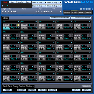 Click to display the TC-Helicon VoiceLive Song Editor