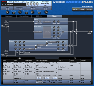 Click to display the TC-Helicon VoiceWorks Plus Preset Editor