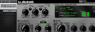 Click to display the TC Electronic M350 Preset Editor