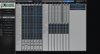 Click to display the Yamaha Motif 7 Performance - Common+Effects Mode Editor