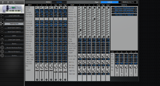 Click to display the Yamaha Motif ES8 Performance - Common+Effects Mode Editor