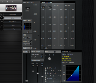 Click to display the Yamaha RX7 Voice Editor