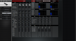 Click to display the Yamaha S80 Voice - Common Mode Editor