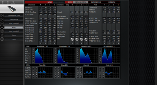 Click to display the Yamaha S80 Voice - FILTER+EQ+LFO Mode Editor