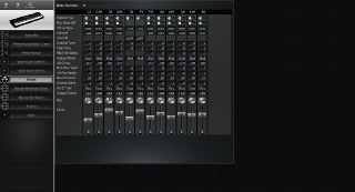 Click to display the Yamaha S90 Drums Editor