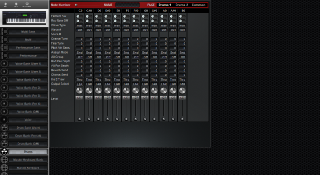 Click to display the Yamaha S90ES Drums Editor