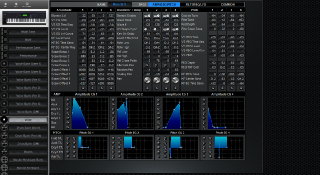 Click to display the Yamaha S90ES Voice - AMP+OSC+PITCH Editor
