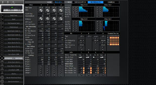 Click to display the Yamaha S90ES Voice - FILTER+EQ+LFO Mode Editor