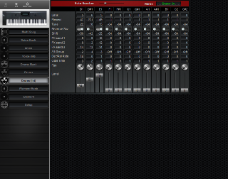 Click to display the Yamaha W5 Drums (Int) Editor