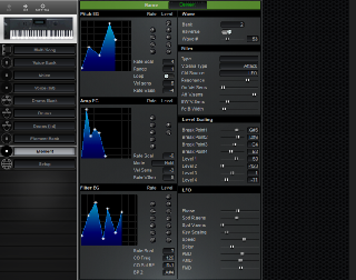 Click to display the Yamaha W5 Element Editor