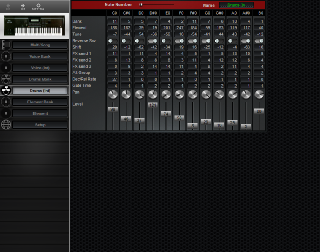 Click to display the Yamaha W7 Drums (Int) Editor